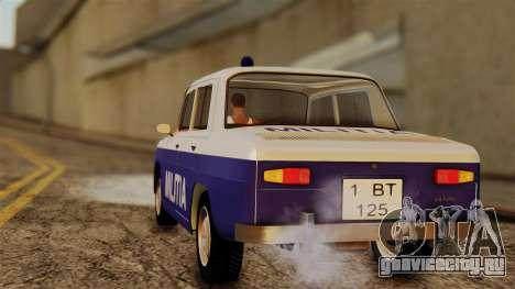 Dacia 1100 Militia для GTA San Andreas вид слева