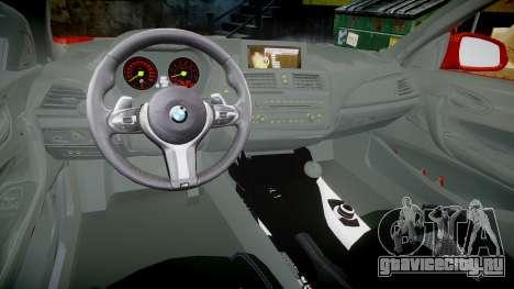 BMW M235i для GTA 4 вид сзади