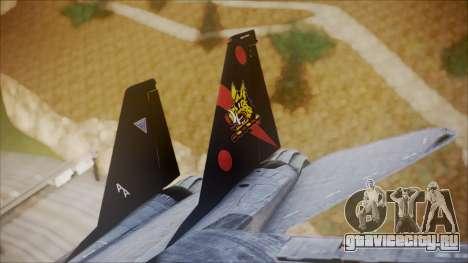 F-14B Bombcat VF-11 Red Rippers для GTA San Andreas вид сзади слева