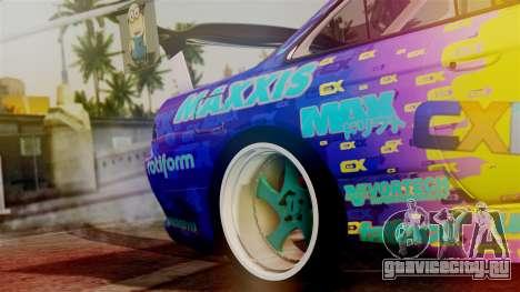 Nissan Silvia S14 Kouki Matt Faileds для GTA San Andreas вид сзади