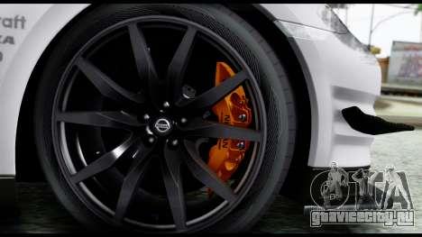 Nissan GT-R R35 2012 для GTA San Andreas вид сзади слева
