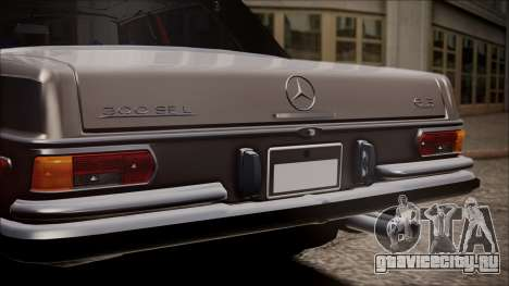 Mercedes-Benz 300 SEL 6.3 для GTA San Andreas вид сзади