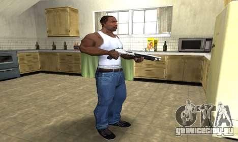 Silver Shotgun для GTA San Andreas третий скриншот