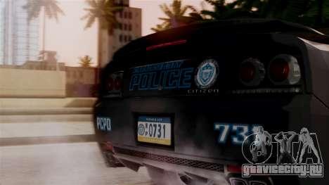 Hunter Citizen from Burnout Paradise v1 для GTA San Andreas вид сзади
