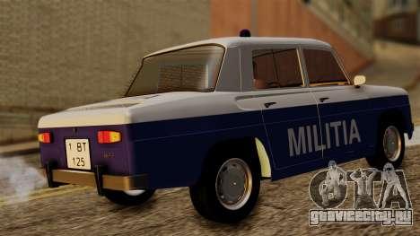 Dacia 1100 Militia для GTA San Andreas вид сзади слева