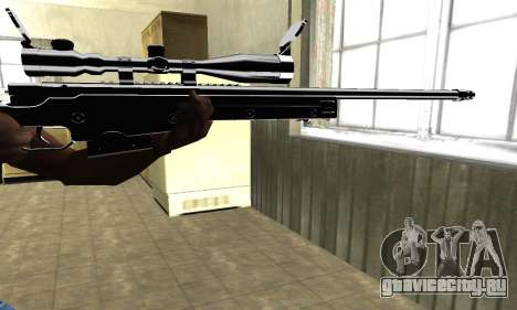 Full Black Sniper Rifle для GTA San Andreas второй скриншот