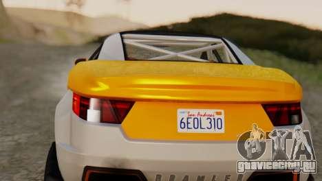 Coil Brawler Gotten Gains для GTA San Andreas вид сзади слева