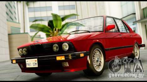 BMW M5 E28 1985 NA-spec для GTA San Andreas