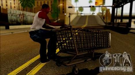 Тележка из супермаркета для GTA San Andreas вид слева