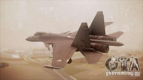 SU-35 Flanker-E Ofnir Ace Combat 5 для GTA San Andreas вид слева