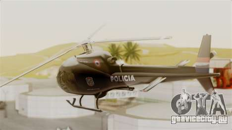 Helicopter National Police of Paraguay для GTA San Andreas вид слева