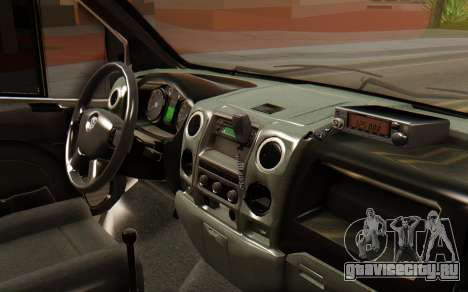 ГАЗель ГУ МВД для GTA San Andreas вид справа