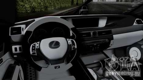 Lexus GS350 Stance Itsuka Kotori для GTA San Andreas вид сзади