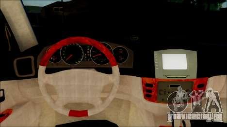 Toyota Land Cruiser 100 UAE Edition для GTA San Andreas вид сзади
