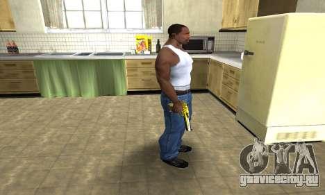 Yellow Deagle для GTA San Andreas третий скриншот