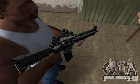 Full Black M4 для GTA San Andreas