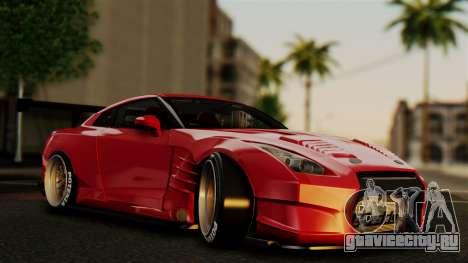Nissan GT-R R35 Bensopra 2013 для GTA San Andreas вид снизу