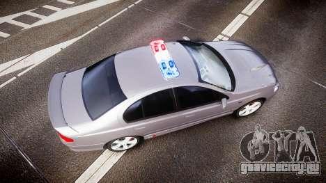 Ford Falcon XR8 Unmarked Police [ELS] для GTA 4 вид справа