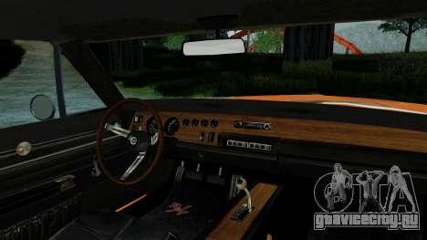 Dodge Charger General Lee для GTA San Andreas вид справа