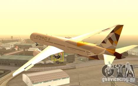 Boeing 787-9 Etihad Airways для GTA San Andreas вид слева