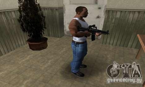 Full Black M4 для GTA San Andreas третий скриншот