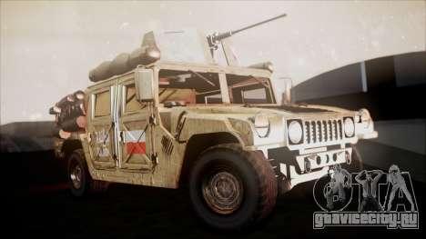 Polish HMMWV для GTA San Andreas вид справа