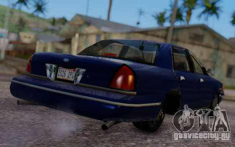 Ford Crown Victoria Civillian для GTA San Andreas вид слева
