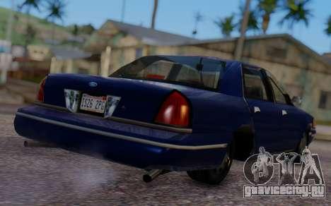 Ford Crown Victoria Civillian для GTA San Andreas вид слева
