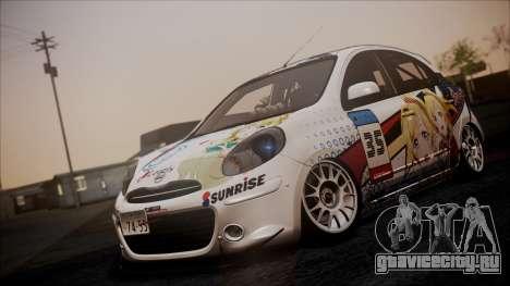 Nissan Micra 2011 Stance Itasha для GTA San Andreas