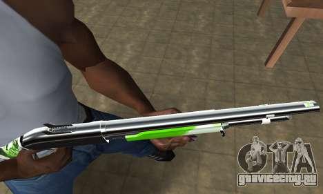 Green Lines Shotgun для GTA San Andreas второй скриншот
