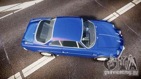Renault Alpine A110 1973 для GTA 4 вид справа