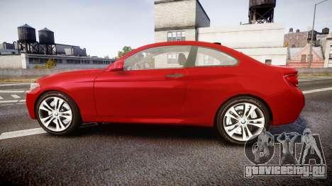 BMW M235i для GTA 4 вид слева