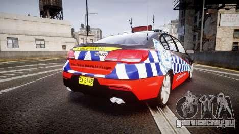 Holden VF Commodore SS Highway Patrol [ELS] для GTA 4 вид сзади слева