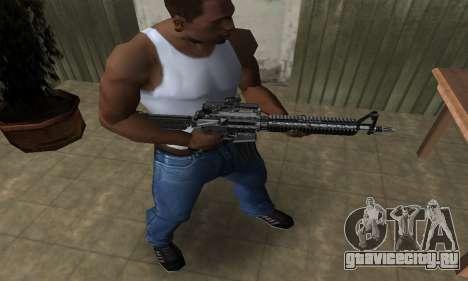 Full Black M4 для GTA San Andreas второй скриншот
