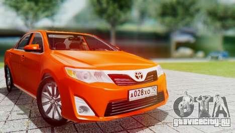 Toyota Camry 2012 для GTA San Andreas