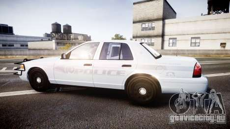 Ford Crown Victoria Bohan Police [ELS] unmarked для GTA 4 вид слева