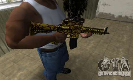 Yellow Jungle M4 для GTA San Andreas второй скриншот