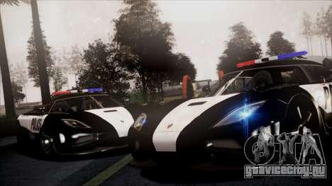NFS Rivals Koenigsegg Agera R для GTA San Andreas