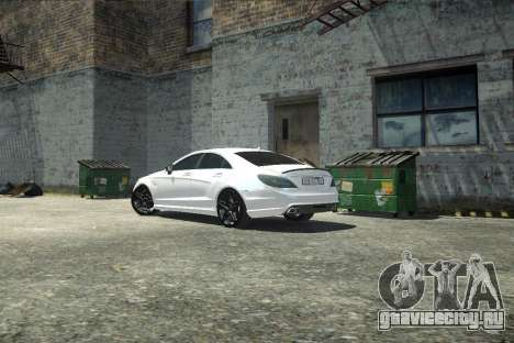Mercedes-Benz CLS 63 AMG для GTA 4 вид изнутри