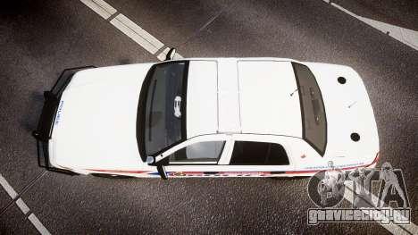 Ford Crown Victoria Bohan Police [ELS] WL для GTA 4 вид справа