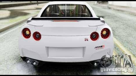 Nissan GT-R R35 2012 для GTA San Andreas вид изнутри