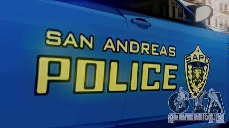 Hunter Citizen SAPD IVF для GTA San Andreas вид справа