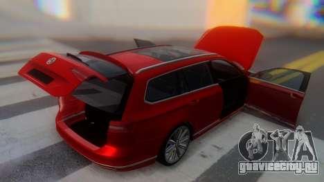 Volkswagen Passat Variant R-Line для GTA San Andreas вид сверху