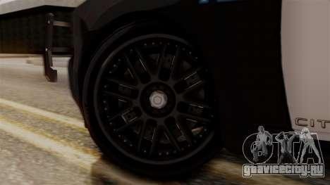 Hunter Citizen from Burnout Paradise v1 для GTA San Andreas вид сзади слева