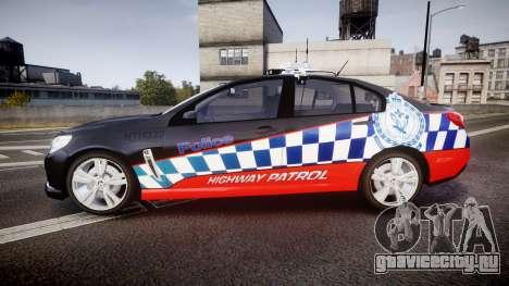 Holden VF Commodore SS Highway Patrol [ELS] для GTA 4 вид слева