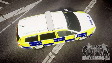 Volkswagen Passat B7 North West Police [ELS] для GTA 4 вид справа