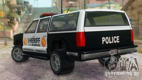 Police 4-door Yosemite для GTA San Andreas вид слева