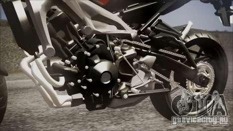 Yamaha MT-09 для GTA San Andreas вид сзади