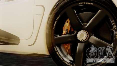 NFS Rivals Koenigsegg Agera R Racer для GTA San Andreas вид сзади слева