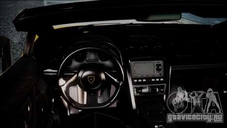 Lamborghini Gallardo LP570-4 Spyder 2012 для GTA San Andreas вид справа